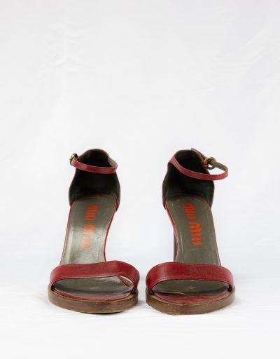 Sandalo in pelle Miu Miu 1